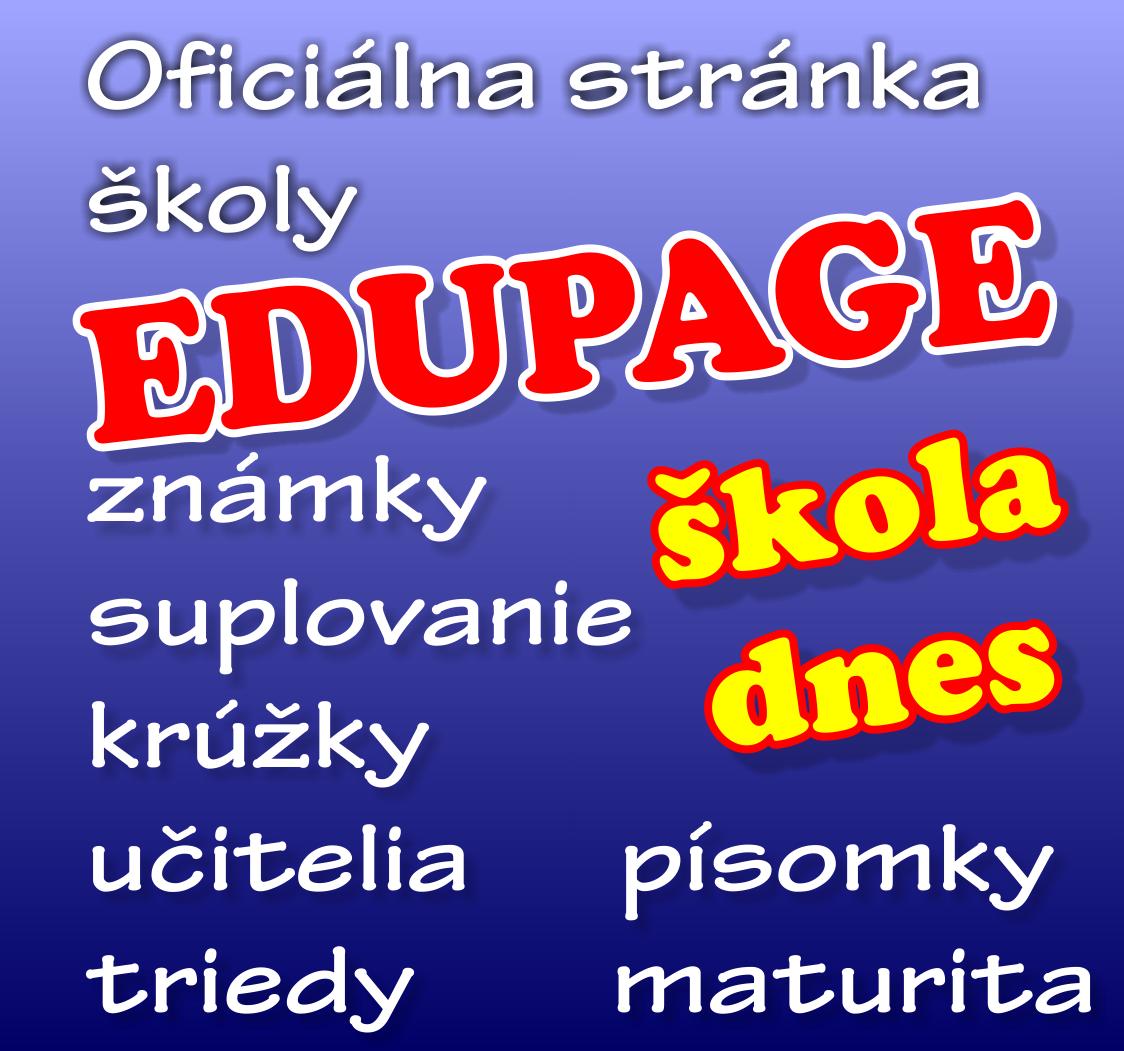 oficiálna stránka školy